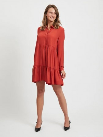 Vila Ketchup Vimoras L/s Shirt Dress
