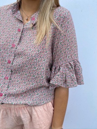 Noella Sessi Blouse, Viscose Small Flower Rose