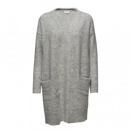Selected Femme Lt Grey Melange Sflivana Knit Cuff Cardigan