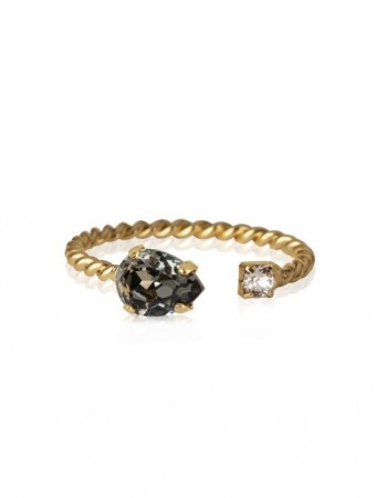 Caroline Svedbom Black Diamond Nani Ring Gold