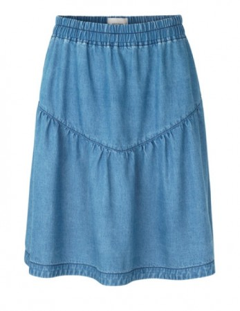Second Female Blue Denim Lyle Mw Short Skirt