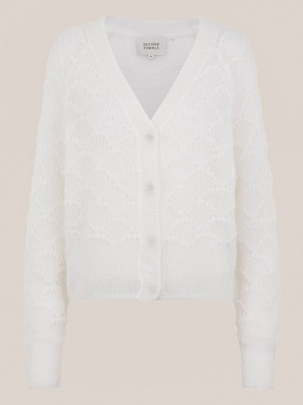 Second Female Off White Palm Knit Cardigan