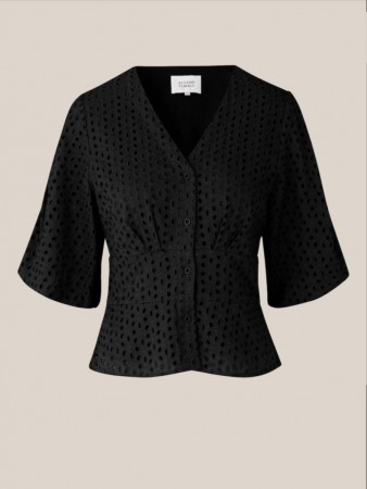 Second Female Black Milly Ss Blouse