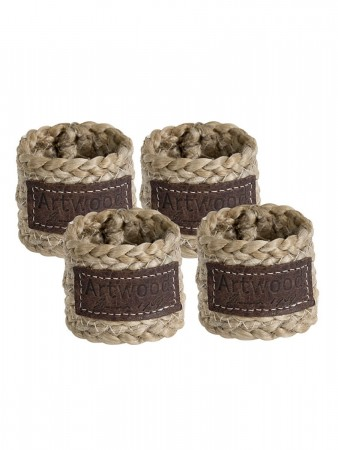 Artwood Natur Hemp Napkin Ring 4-p - ø:5 H:5cm