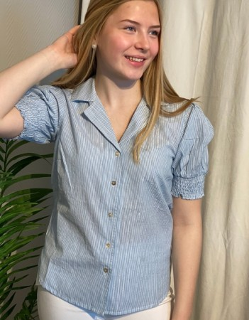 Culture Powder Blue Cuneva Shirt