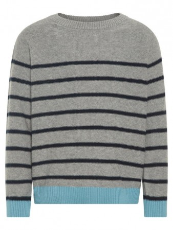 Name It Grey Melange Nmmodims Ls Knit