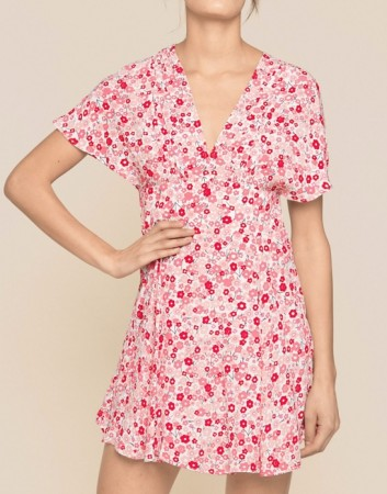 Bytimo 1035 - Red Flowers Summer 50's Dress