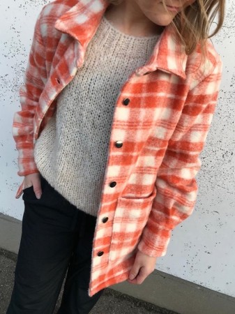 Noella Peach/white Viksa Jacket, Wool
