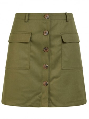 Y.a.s Olive Night Yasderyl Mw Mini Skirt Ft