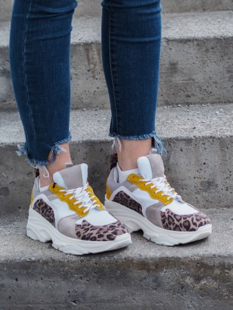 Pavement Leopard Suede 325 Mynthe Mesh