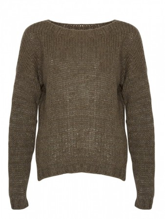 Noella Army Green Kala Knit Sweater