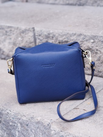Pourchet Marine Grainy Synhetic Convertible Clutch