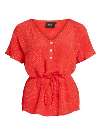 Object Collectors Item Poppy Red Objlemon S/s Top 102
