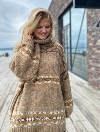 Holzweiler Beige Mix Dypvag Knit Sweater