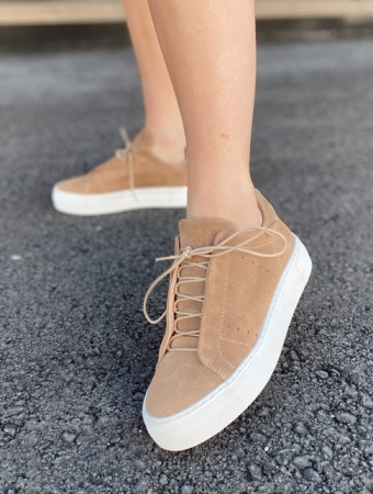 Pavement Taupe Suede Vivi