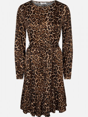 Msch Leopard Suede Opal Dress Aop