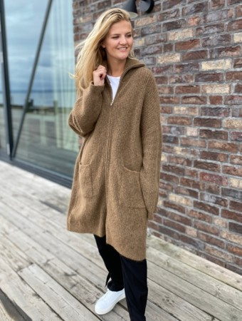 Holzweiler Light Brown Lund Knit Cardigan - FORHÅNDSBESTILLING