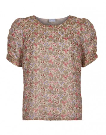 In Front Rose Wood - Nelly Blouse Short Sleeve