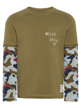 Name It Burnt Olive Nmmlarryson Ls Top