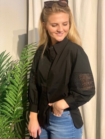 Camilla Pihl Black Puff Shirt