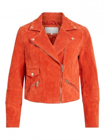Vila Poinciana Vijolly Suede Jacket