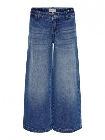 Only Medium Blue Denim Konlisa Wide Cropped Jeans
