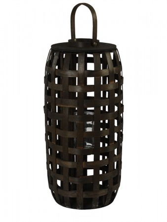 Light And Living Lantern ø30x65 Cm Viktor Bamboo Dark Brown