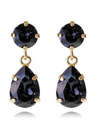 Caroline Svedbom Mini Drop Earring Gold Graphite