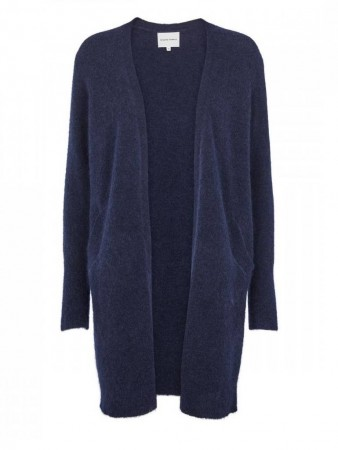 Second Female Navy Blazer Brook Knit Pocket Cape