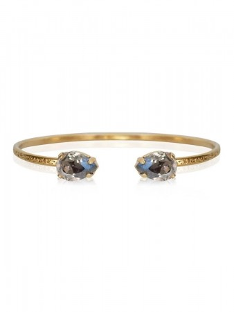 Caroline Svedbom - Petite Drop Bracelet Gold Black Diamond