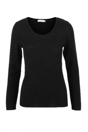 The Product Black Merino Longsleev