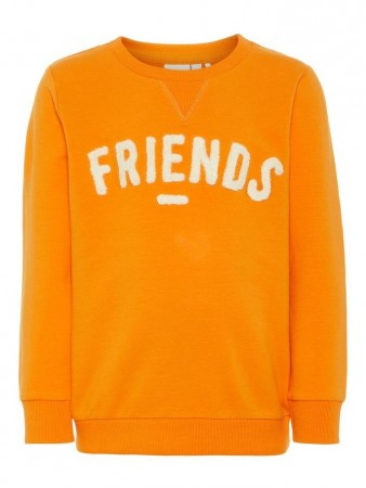 Name It Sun Orange Nmmtaboy Ls Sweat Bru