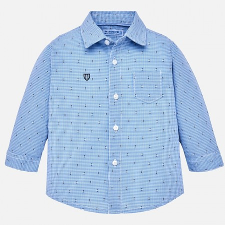 Mayoral Light blue L/s Fantasy Shirt