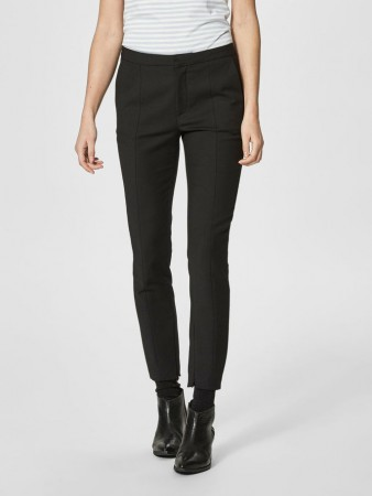 Selected Femme Black Slfmuse Cropped Pant