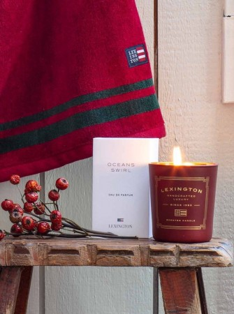 Lexington Red Scented Holiday Candle Red/apple Cinnamon