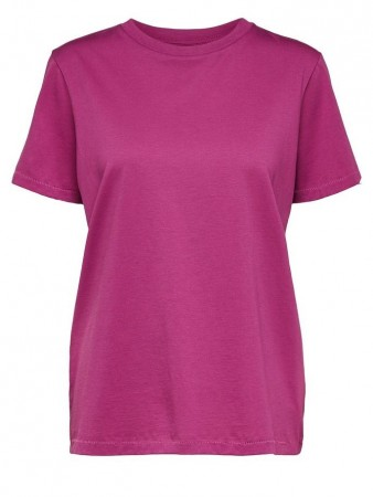 Selected Femme Clover Slfmy Perfect Ss Tee Box Cut Color