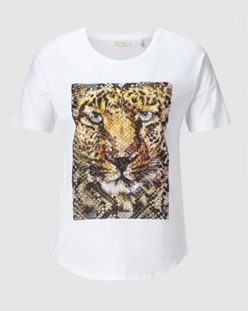 Rich & Royal White T-shirt With Tiger Print
