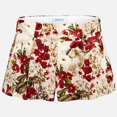 Mayoral Red Printed Shorts
