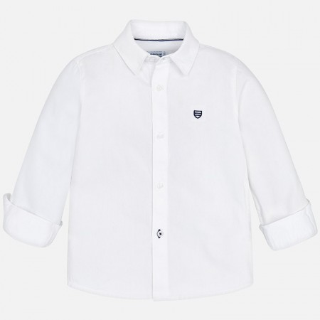 Mayoral White Basic L/s Shirt