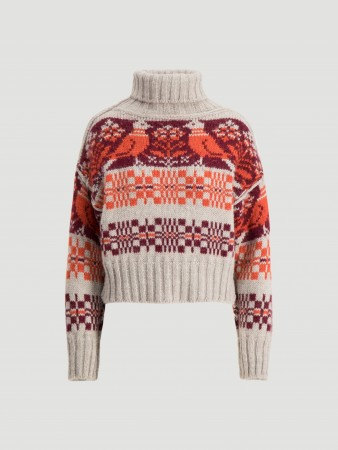 Holzweiler Bird Red Cropped Knit