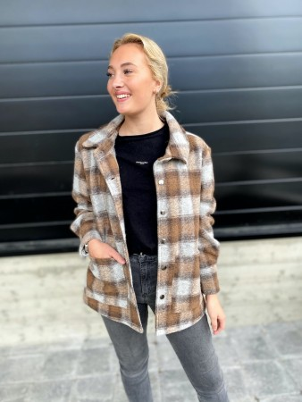 Noella Viksa Jacket Wool - Brown Checks