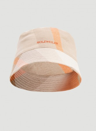 Holzweiler Orange Check Pafe Buckethat Check