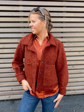 Noella Burnt Orange Short Viksa Jacket - Burnt Orange