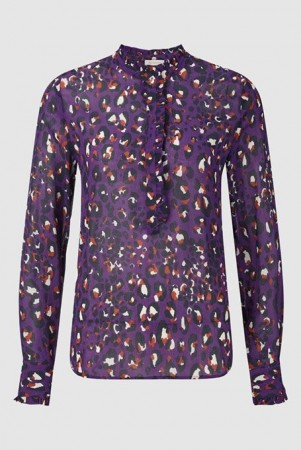 Rich & Royal Royal Violet Printed Blouse