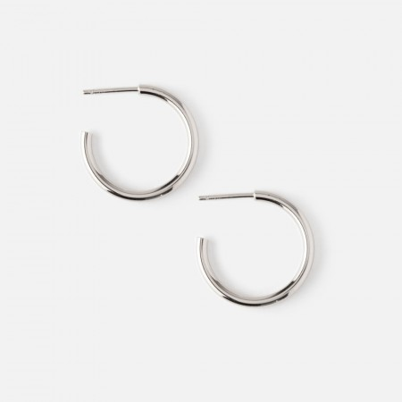 Orelia Silver Chunky Mid Size Hoops