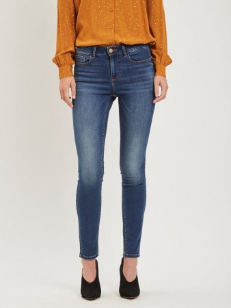 Vila Dark Blue Denim Vicommit Felicia Rw Slim Dbd