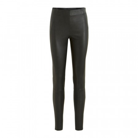Vila Black Viwinny Rw Stretch Leather Legging- Noos