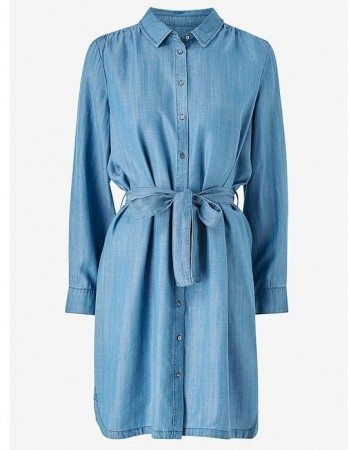 Second Female Blue Denim Lilla Ls Shirt Dress