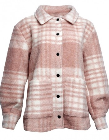 Noella -Viksa Jacket Wool - Rose Checks - FORHÅNDSBESTILLING