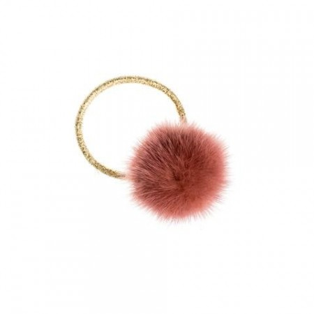 Dark Antique Rose Mink Hair Pom